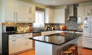 white kitchen granite ideas impressive kitchen decorating ideas with white cabinet and bamboo floor using glossy black