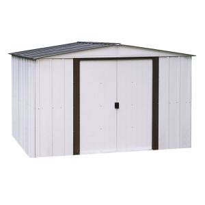 arrow newport 10 ft x 8 ft steel shed np10867 the home
