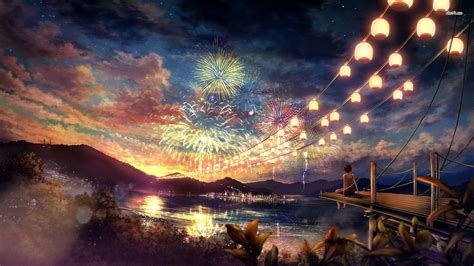 Anime Fireworks Wallpaper Hd by The Fireworks Wallpaper Anime Wallpapers