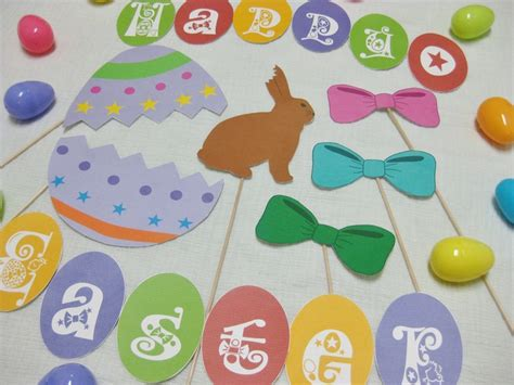 easter decorations to pdf easter photo booth props decorations craft