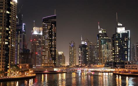 dubai night cityscape wallpaper