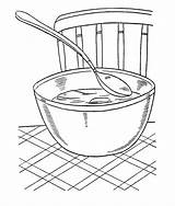 Coloring Soup Bowl Chicken Chili Template Warms Votos Sketch sketch template