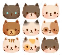 Cute Cartoon Cat Face