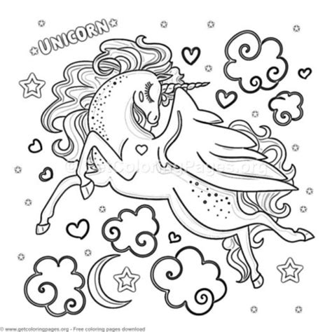 unicorn coloring pages printable getcoloringpagesorg