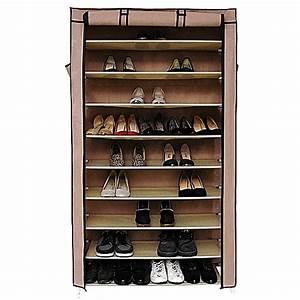 Rangement Chaussures Original : white label armoire de rangement de chaussures original 6 tag res 18 paires marron ~ Teatrodelosmanantiales.com Idées de Décoration