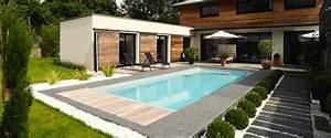 Amenagement Autour Piscine Photos : amenager autour piscine dalles pierres piscine ~ Premium-room.com Idées de Décoration