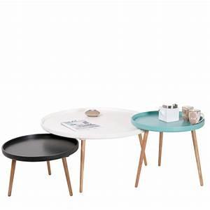 Grande Table Basse Ronde : table basse scandinave kompass 90 by drawer ~ Teatrodelosmanantiales.com Idées de Décoration