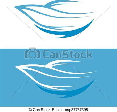 Fast Boat Vector by Eps Vectors Of Abstract Fast Boat Outline Vector Design