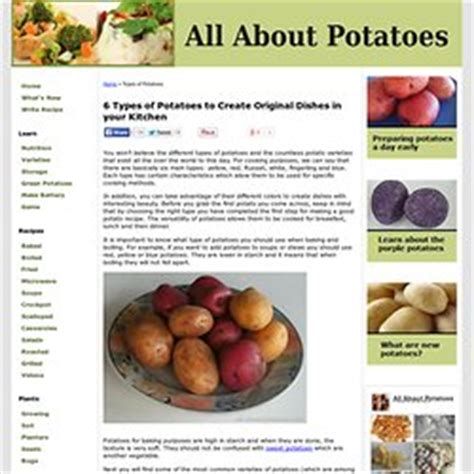 different types of potatoes recipes potatoes food and cooking pearltrees