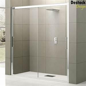 porte coulissante salle de bain With porte de douche coulissante avec meuble d angle salle de bain lapeyre