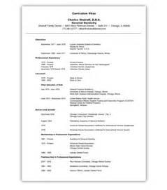 curriculum vitae format for dentist curriculum vitae for dentists