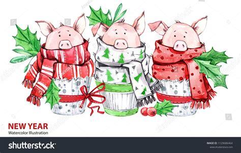 2019 Happy New Year Illustration Christmas Border 3 Cute