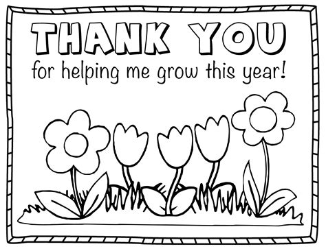 Beautiful Printable Coloring Thank You Cards Downloadtarget