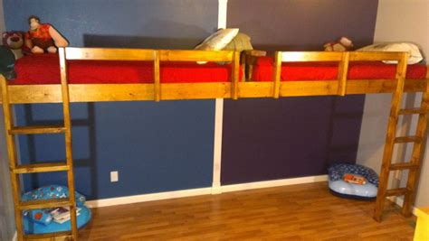 27507 diy loft bed how to build a end to end loft bed for
