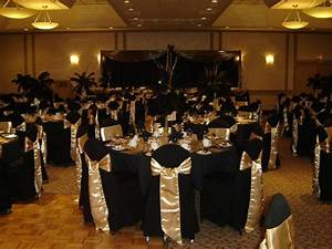 50 years of service party black gold themed on pinterest With black and gold wedding ideas