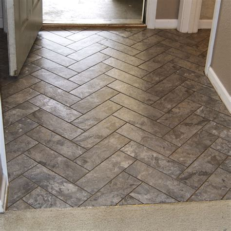 Groutable Vinyl Tile Uk by Diy Herringbone Peel N Stick Tile Floor Grace Gumption