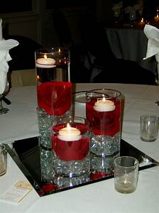 wedding centerpiece ideas for red black and white Archives