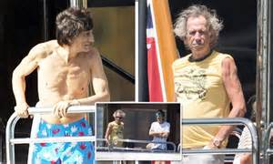 rolling stones keith richards  ronnie wood spend