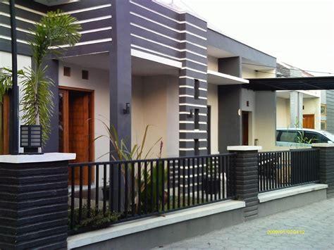 contoh pagar rumah minimalis keren gambar desain model