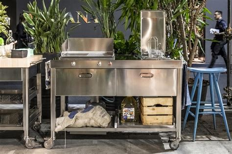 outdoor kitchen fryer outdoor kitchen unit 130 plancha and deep fat fryer 2 alpes inox