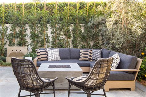wicker sectional gray outdoor cushions transitional
