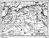 Coloring Treasure Map Pirate Template Maps Barbary Printable Drawing Gutenberg Morocco 1736 Southwestdanceacademy sketch template