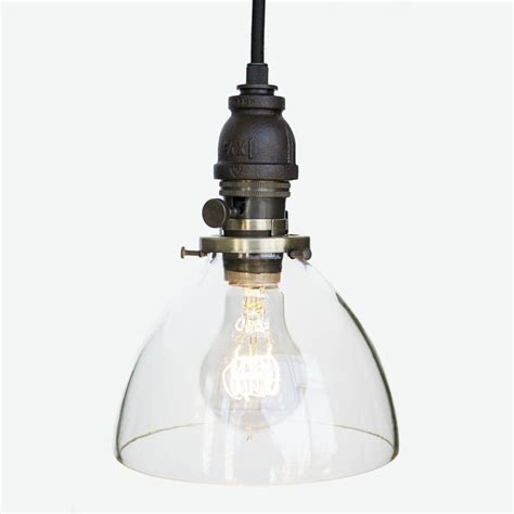 blown glass industrial rustic pipe pendant light