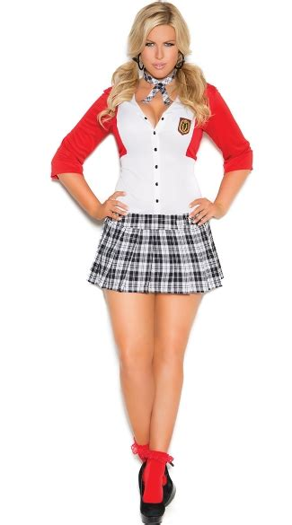 Dean List Diva Costume Sexy School Girl Costume Plus Size Sexy School Girl Outfit