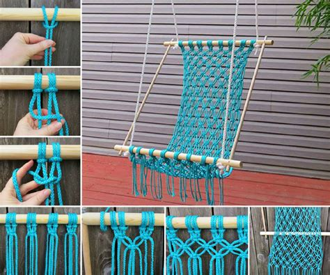 Crochet Hammock by Knitted Hanging Chair Free Pattern For Reading Nook