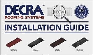 Download Installation Guides  U2013 Decra Roofing Systems