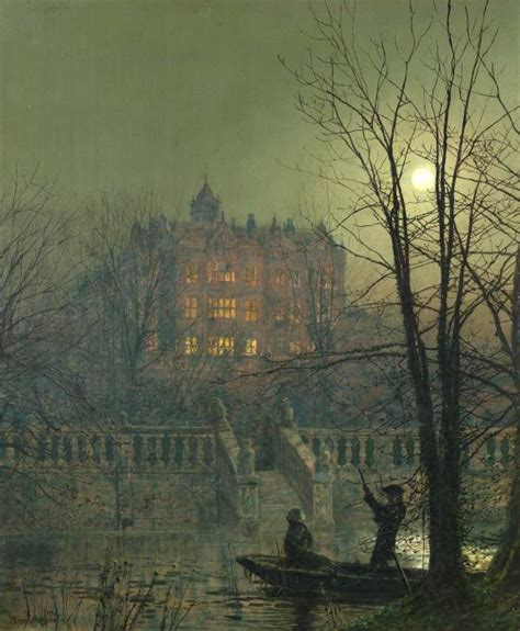 Boat Covers Unlimited Lake Norman by The Moonbeams Atkinson Grimshaw Wikiart Org
