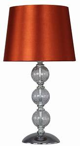 crackle glass ball table lamp terracotta With z table lamp uk