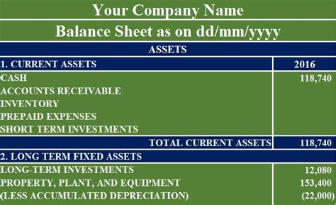 balance sheet excel template exceldatapro