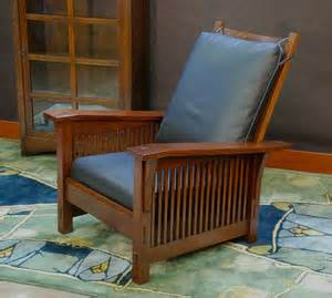 Stickley Morris Chair Reproduction by Voorhees Craftsman Mission Oak Furniture Medium Size