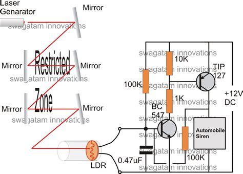 simple burglar alarm circuits circuit projects