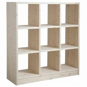 étagère Bois Brut : etag re 9 cases en bois brut boisnature 39 l ~ Melissatoandfro.com Idées de Décoration