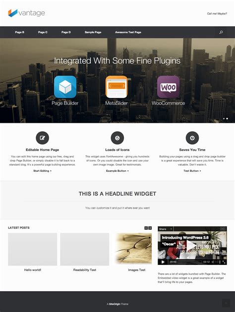 vantage wordpress theme siteorigin