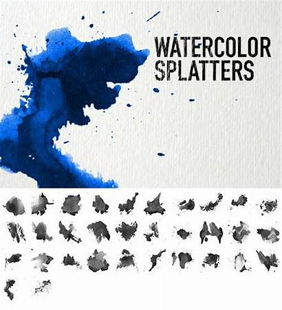Watercolor Photoshop Brushes Sets Splatters Brush Water