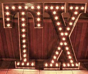 large 48 tx light up letter sign custom state initials With custom light up letters