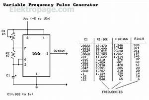 555 Variable Frequency Pulse Generator Lm555 Variable