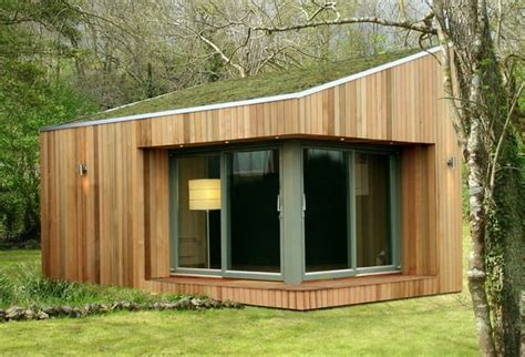 garden office buildings timber rooms roof offices studio contemporary backyard gardens madera jardin casetas sheds luxury designrulz gym modern shed