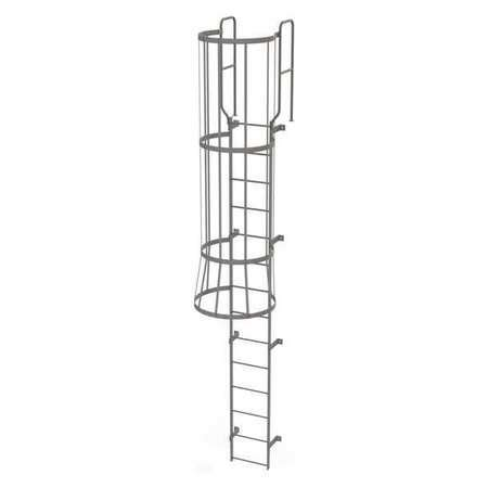 61050 Ladder Promo Code by Tri Arc Fixed Ladder W Safety Cage Steel 13 Ft