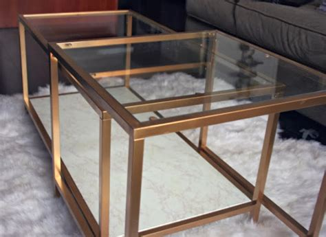 long coffee table ikea gold table diy my ikea hack the casual classic