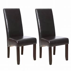 chaises With salle À manger contemporaineavec chaises cuir marron salle manger