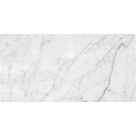 White Carrara C Honed Marble Tiles 12x24  Country Floors