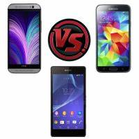 HTC One (M8) vs Samsung Galaxy S5 vs Sony Xperia Z2 vs ...