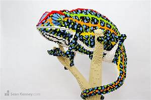 Sean Kenney - Art with LEGO bricks : Jeweled-chameleon