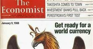 Rules Agenda News Man 1988 Economist Cover Get Ready For A World