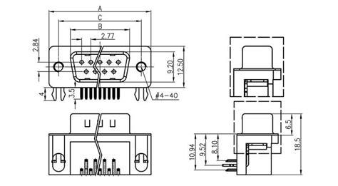 dsub stecker  print mit gewinde nach  norm  pol
