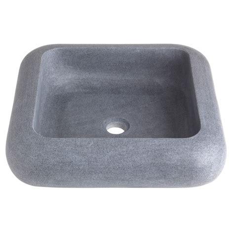 vasque carre a poser vasque 224 poser carr 233 e grise ardois 233 e 111062